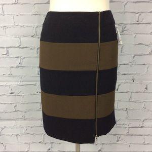 Nine West Zipper Striped Skirt, Size 12